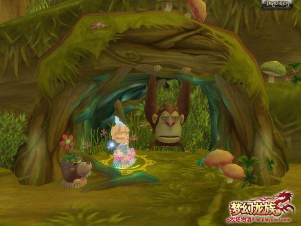 巨木森林可爱的小动物