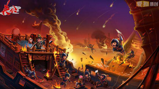 火烧赤壁的故事